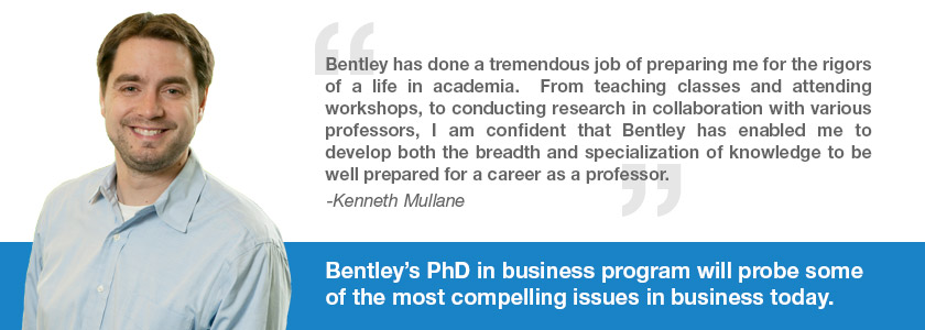 PhD in Business student Kenneth Mullane