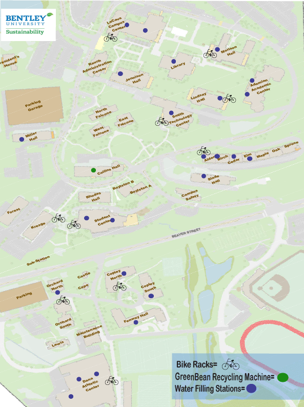Bentley University Map Biking | Bentley University