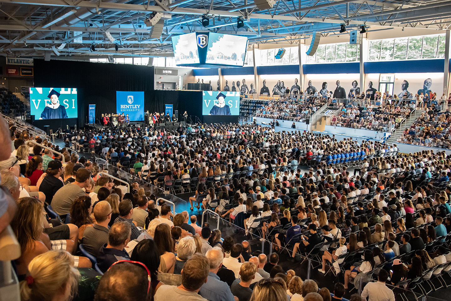 Bentley University convocation 2019 in the Bentley Arena