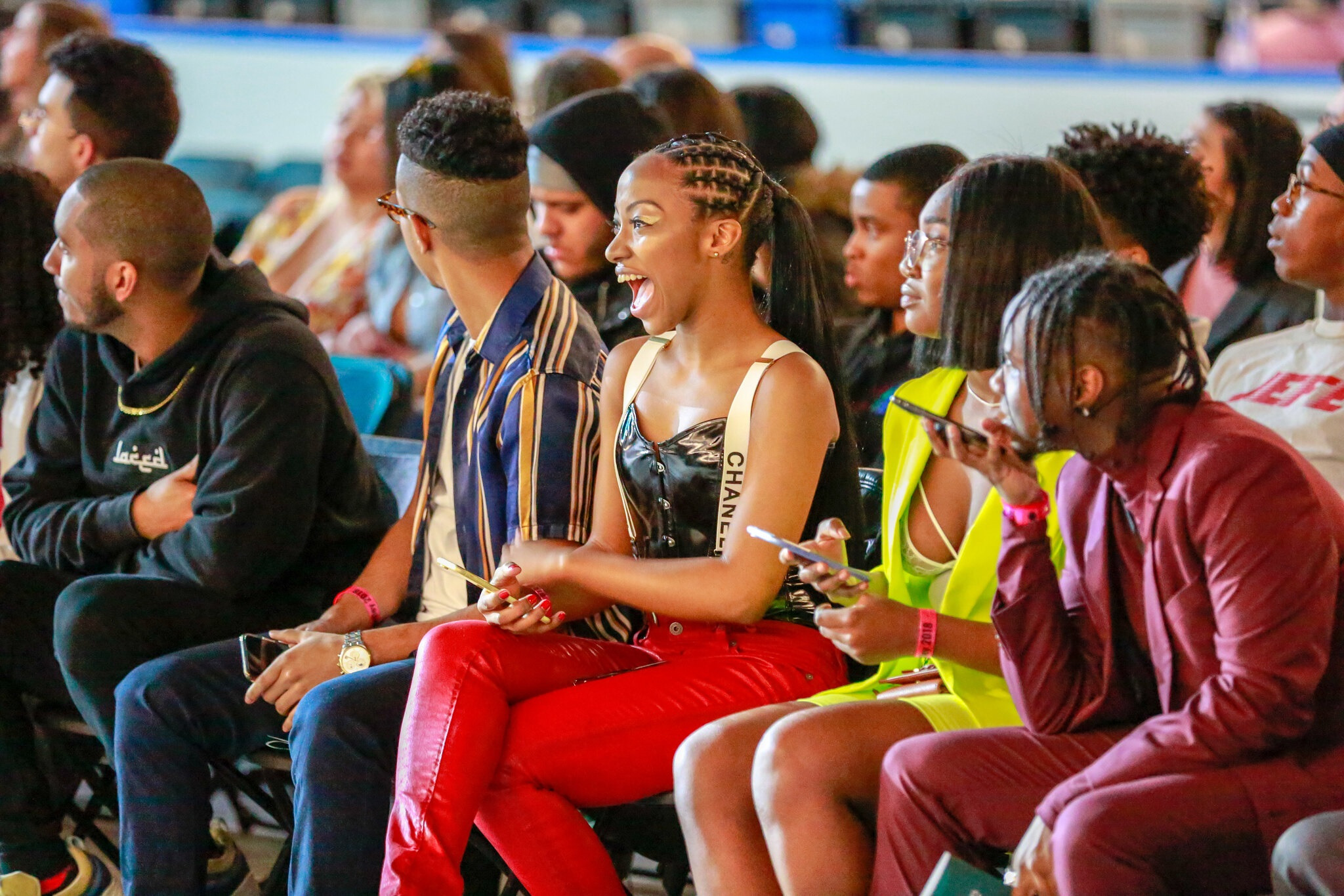 Students enjoy the Black United Body fashion show