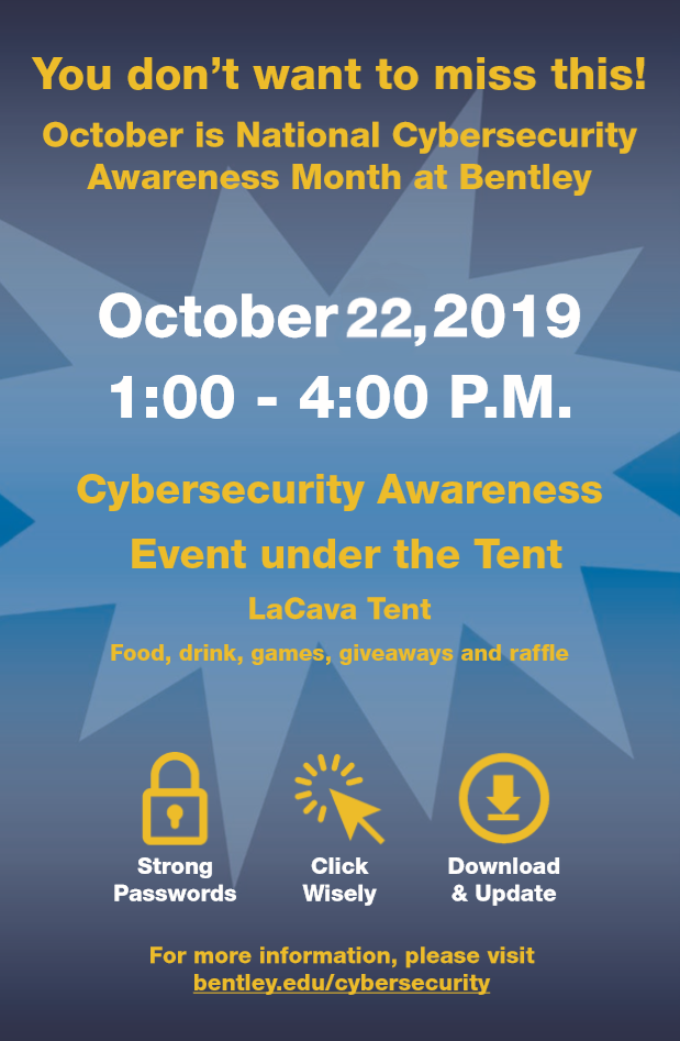 Cybersecurity Tent Event on October 22