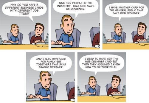 UX comic strip