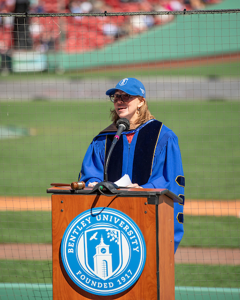 Gloria Larson at Fenway Park