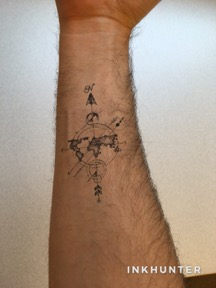 ink tattoo on arm.