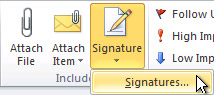 Outlook Signatures