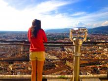 female student studies abroad in florence italy