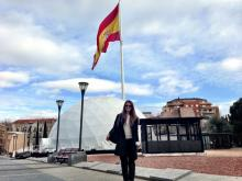 female student studies abroad in Madrid