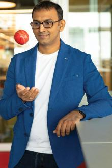 Bhavit with ball