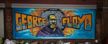 Mural where George Floyd died